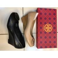 Sepatu Wanita wedges tory burch premium ori leather size 36-41