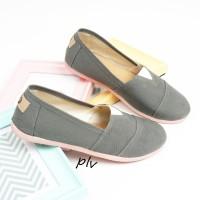 Sepatu Flat Shoes Flatshoes Murah ala Wakai NS55 Abu