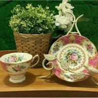 Royal Albert -Polka rose Vintage teacup and saucer set