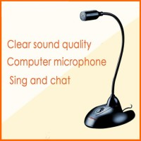 Mikrofon Fleksibel Komputer Chat Karaoke Nyanyi PC Laptop Stand ON/OFF