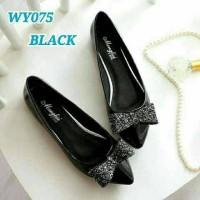 Jual Sepatu Wanita Flat Shoes Pita Gliter SDB79 Murah