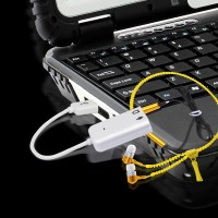 Usb to Sound Adapter 7.1 with wires for Desktop/laptop computer