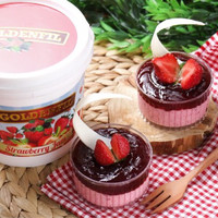 Goldenfil Strawberry Jam 1kg( 50% Buah asli) selai strawberry