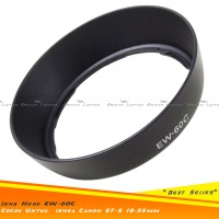 Lens Hood Canon EW-60C Ukuran 58mm Utk Lensa Kit 18-55mm