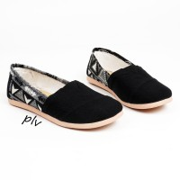 Jual Sepatu Flat Shoes Flatshoes Murah ala Wakai NS81 Hitam Murah