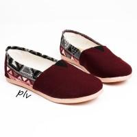 Jual Sepatu Flat Shoes Flatshoes Murah ala Wakai NS81 Maroon Murah