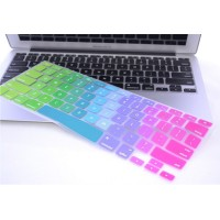 Rainbow Silicone Keyboard Cover Skin for Macbook Air 13 / Pro 13 inch