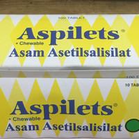 Aspilet / Aspilets 80 mg chewable isi 10 tablet
