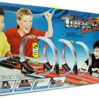 Mainan Anak Track Racing 3 Jalur Bisa Untuk Mobil Hot Wheels