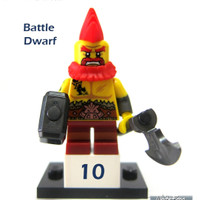 Lego Original Minifigure Battle Dwarf Warrior Series 17