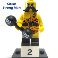 Lego Original Minifigure Circus Strong Man Barbel Weightlifter