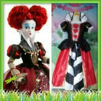 Kostum Halloween Heart Queen Heart Dress Gaun Pesta Ulang Tahun Import