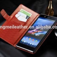 Flip Cover KULIT Sony Xperia Z Ultra Leather Case HP Dompet Casing