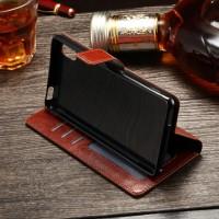 Jual Flip Cover KULIT Sony Xperia M2 / M4 Aqua Leather Case Dompet Casing Murah
