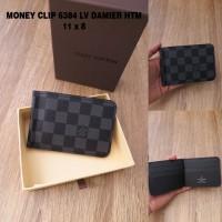 Dompet Money clip LV 6384 damier hitam