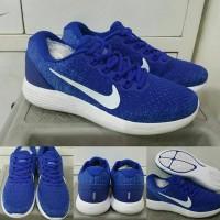 Sepatu Lari Running Jogging Fitness Nike Lunar Glide 9 Blue White Biru