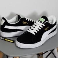 Sepatu Puma Suede Classic Skate Skateboarding Black White Hitam Man