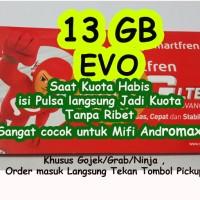 KARTU PERDANA SMARTFREN 4G EVO Kuota 13 GB ( 3GB + 10GB = 13GB )