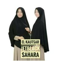 Jual Jilbab Instan Hitam Jetblack / Bergo Hitam Jetblack Murah