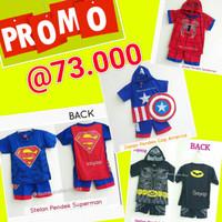 Jual PROMO!! BAJU BATMAN SPIDERMAN SUPERMAN CAPTAIN AMERIKA -STELAN MURAH  Murah