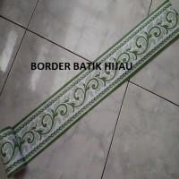 Jual Border Sticker /Border Wallpaper Batik Hijau Dasar Putih10,5cmx10m Murah