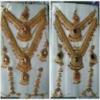 kalung set india / bridal set / kalung india / aksesoris india