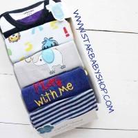 Babymix  - Jumper Carters 5in1 Lengan Pendek Cowok - 12M