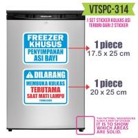 VTSPC 314 sticker kulkas stiker freezer label botol asi bayi menyusui
