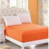 Sprei Waterproof (Anti Air/Ompol) Orange 100x200x20