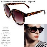 Kacamata wanita arman round leopard fullset