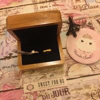 Brown Rustic Wood Ring Box Velvet Couple| Kotak Cincin Kawin Kayu