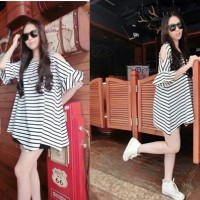 SALUR HANNA-fashion wanita-mini dress salur-blouse jumbo-modis-LL