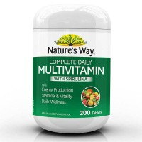 Natures Way Complete Daily Multivitamin Plus Spirulina 200 Tablets