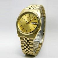 Seiko 5 SNXJ94K1 Automatic Gold Plated Bracelet - Jam Pria SNXJ94