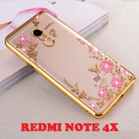 Xiaomi Redmi Note 4X Silicone Diamond Soft Case HP Softcase TPU Flower