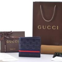Dompet Gucci Bi-Fold Guccissima Web P138042E Domper Cowok Pria
