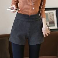 Celana Pendek Wanita Import Original Dark Gray Casual Plush (M)