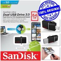 Flashdisk Sandisk 64 GB Ultra Dual Usb Drive 3.0 OTG Micro Original