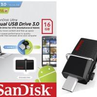 Flashdisk Sandisk 16 GB Ultra Dual Usb Drive 3.0 OTG Micro Original
