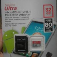 Sandisk Micro Sd 32 GB Ultra Class 10 80 Mb/s Original Memory Card
