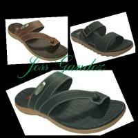 sandal casual pria carvil 03 / sendal kulit sepatu pesta cowok