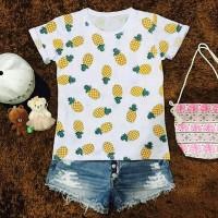 Ch-Nanas/kaos gambar lucu/baju wanita/supplier grosir kaos murah polos
