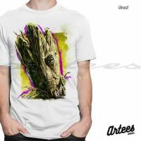Jual Kaos Groot ART | Kaos Guardian Of The Galaxy | Kaos 3D Murah Murah