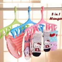 8 In 1 Hanger Magic Hanger Isi 8 Jepitan Praktis Dan Hemat Tempat