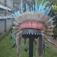 Topi Indian, indianheadress Small Turquish
