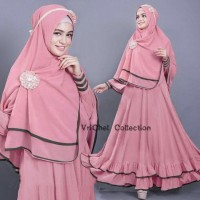 Vrichel Collection - Syari 2in1 bella (Pink Dusty) Disk Murah