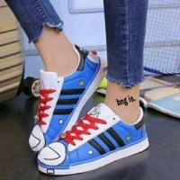 Jual Jual Sepatu Wanita Kets Casual Motif Doraemon SDS172 Murah