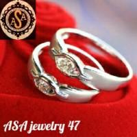 cincin kawin perak, couple, cincin tunangan/nikah termurah, terbaru