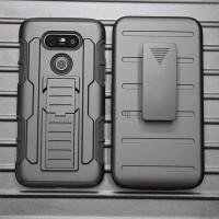 Police Armor Bumper Holster Belt Hard Soft Cover Case Casing LG V20