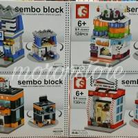 Lego Sembo Block SD 6058 Philips Sport Centre Game Station Auto Repair